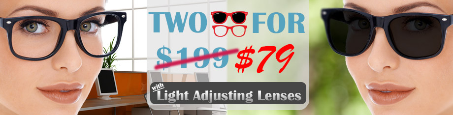 two for $99 with transition lenses