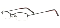 Picture of iLookGlasses OTTO - Avery Glossy Black - RECTANGLE,METAL,OVAL,SEMI-RIM,fashion,classic,light weight,office,everyday - prescription eyeglasses online USA