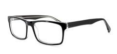 Picture of iLookGlasses DNA 7480 GLOSSY BLACK - PLASTIC,RECTANGLE,FULL-RIM,fashion,office,everyday - prescription eyeglasses online USA
