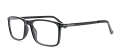 Picture of iLookGlasses DNA 8040 BLACK - PLASTIC,RECTANGLE,OVAL,FULL-RIM,fashion,office,everyday - prescription eyeglasses online USA