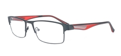 Picture of iLookGlasses MOMENTUM 6497 BLACK / RED - RECTANGLE,METAL,FULL-RIM,fashion,office,sporty,everyday - prescription eyeglasses online USA