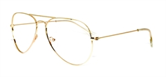 Picture of iLookGlasses OTTO - SUNNY GOLD - METAL,AVIATOR,FULL-RIM,fashion,classic,light weight,office,retro,everyday - prescription eyeglasses online USA