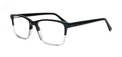 Picture of iLookGlasses DNA 8710 BLACK / CLEAR - PLASTIC,RECTANGLE,FULL-RIM,fashion,office,everyday - prescription eyeglasses online USA