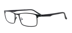 Picture of iLookGlasses OTTO - HECTOR BLACK - RECTANGLE,METAL,FULL-RIM,fashion,office,everyday - prescription eyeglasses online USA