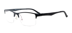 Picture of iLookGlasses MOMENTUM 6660 BLACK - RECTANGLE,METAL,SEMI-RIM,fashion,light weight,office,sporty,everyday - prescription eyeglasses online USA