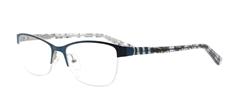 Picture of iLookGlasses OTTO - CLOVER BLUE - RECTANGLE,METAL,OVAL,SEMI-RIM,fashion,office,everyday - prescription eyeglasses online USA