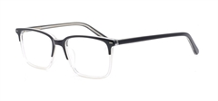 Picture of iLookGlasses DNA 9203 BLACK / CLEAR - PLASTIC,RECTANGLE,FULL-RIM,fashion,office,everyday - prescription eyeglasses online USA